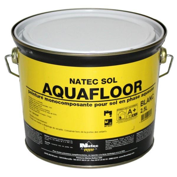 Peinture sol Aquafloor Natec toutes teintes, 2,5 litres