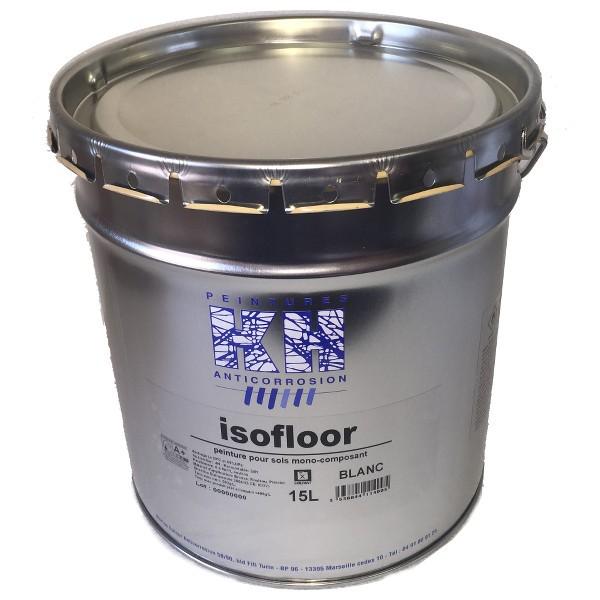 Peinture sol intérieur et extérieur Isofloor KH blanc, 15 litres