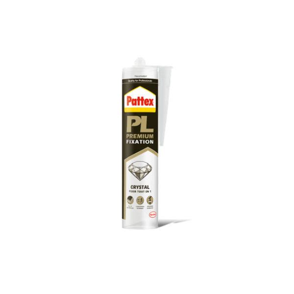 Mastic Colle Crystal pour Fixations Pattex PL Premium, 290g