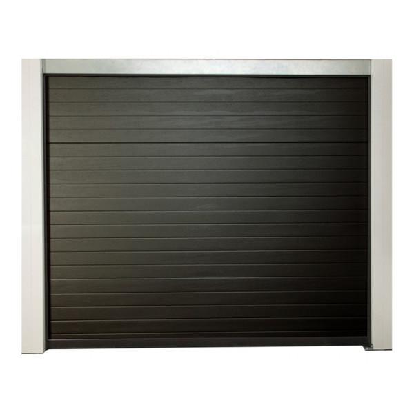 porte de garage sectionnelle motoris e 200x300 cm gris. Black Bedroom Furniture Sets. Home Design Ideas
