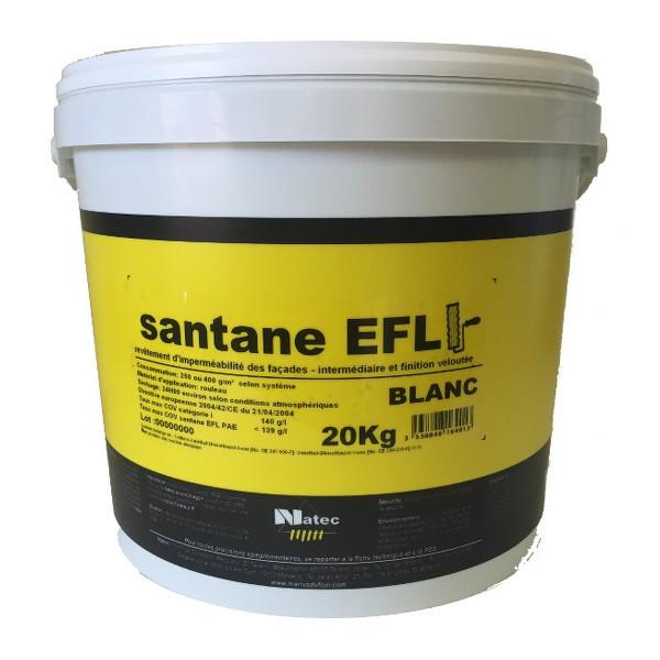 Revêtement imperméable façade Santane EFL Natec toutes teintes, 20 kg