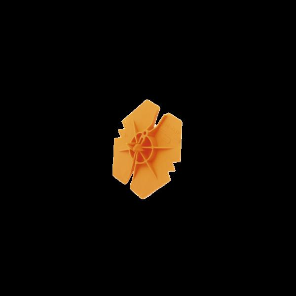 Rondelle Fixe Isolant Casse Goutte Orange diam 3,6/4,5 mm, par 1000