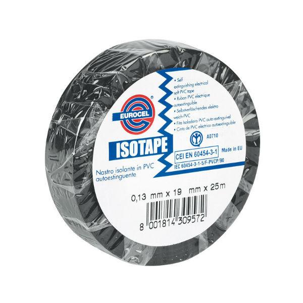 Ruban Adhésif PVC Isolant élec Noir 15 mm x 10 m Eurocel ISOTAPE