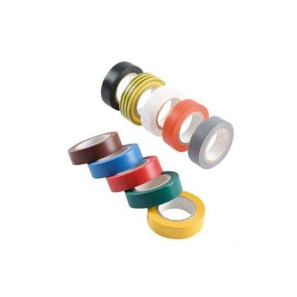 Ruban Isolation Electrique 10mx15mm panaché 10 couleurs Eurocel x90