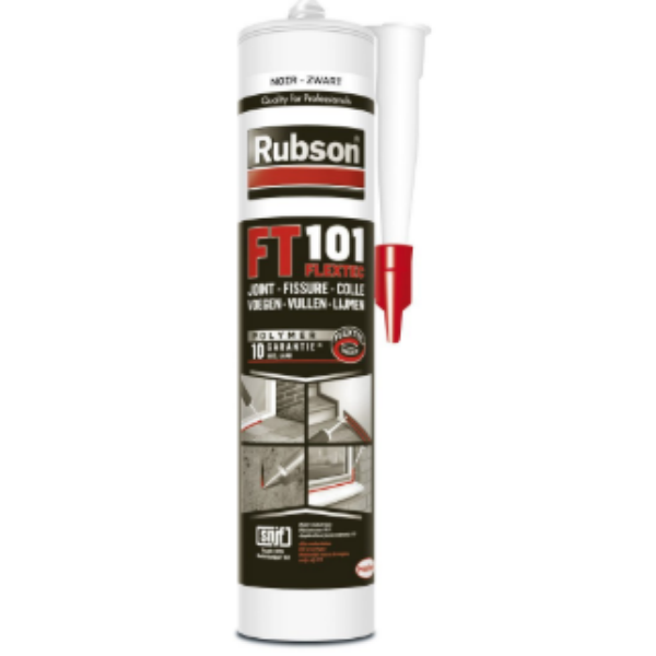 Mastic Noir pour Joint et Fissure Rubson  FT 101, 280ml