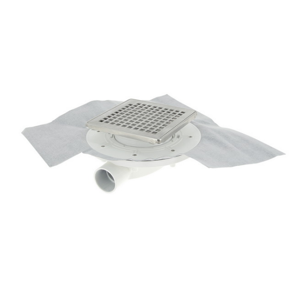 Siphon Extra Plat ⌀ 40 mm Inox 10 x 10 cm Docia Nicoll SFH10INC