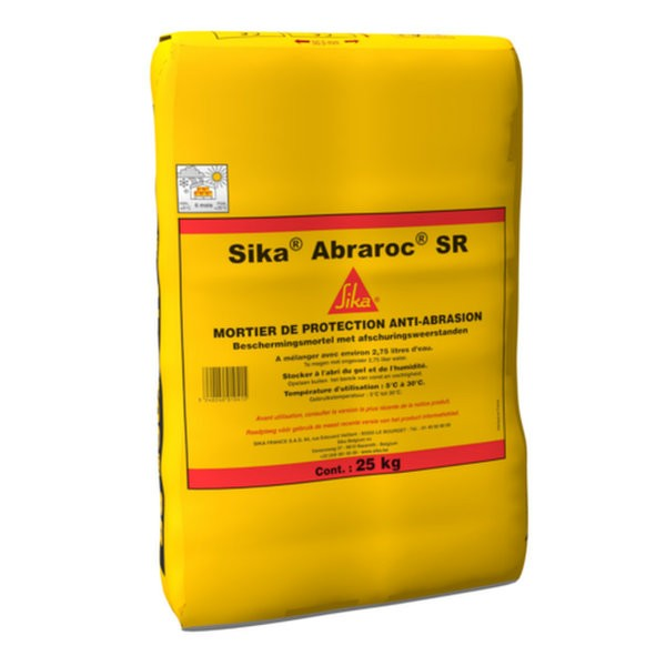 Mortier de Protection anti-abrasion Sika Abraroc, 25kg