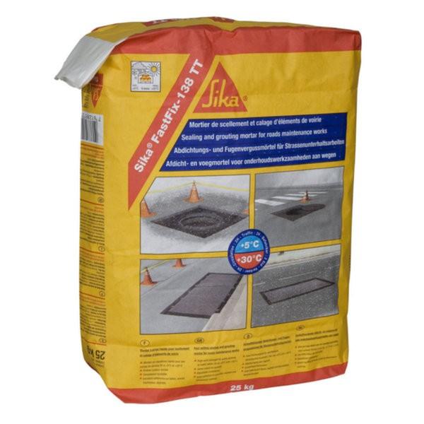 Micro-béton à durcissement rapide Sika Fastfix 138 TT, sac de 25kg