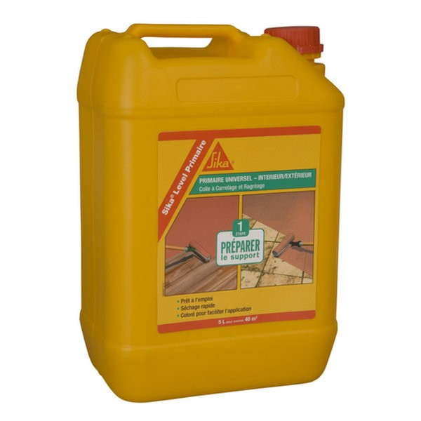Primaire d'adhérence support chape anhydrite Sika Level, 5l
