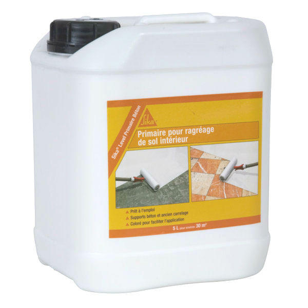 Primaire béton Sika Level, adhérence supports liants hydrauliques, 5l