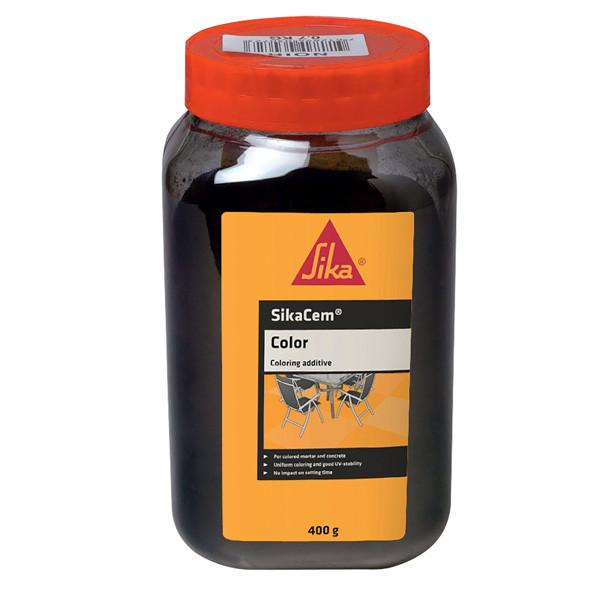 Colorant Noir Mortiers et Bétons Sikacem Color, 700g