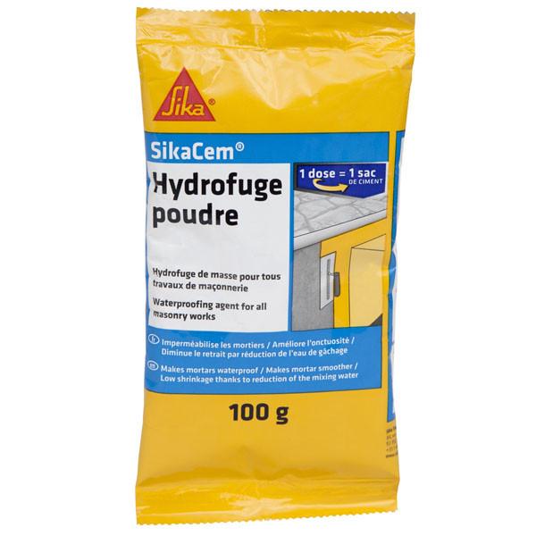 Hydrofuge en Poudre pour Béton et Mortier Sikacem, 100g