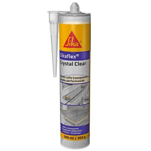 Mastic colle transparent Sikaflex Crystal Clear