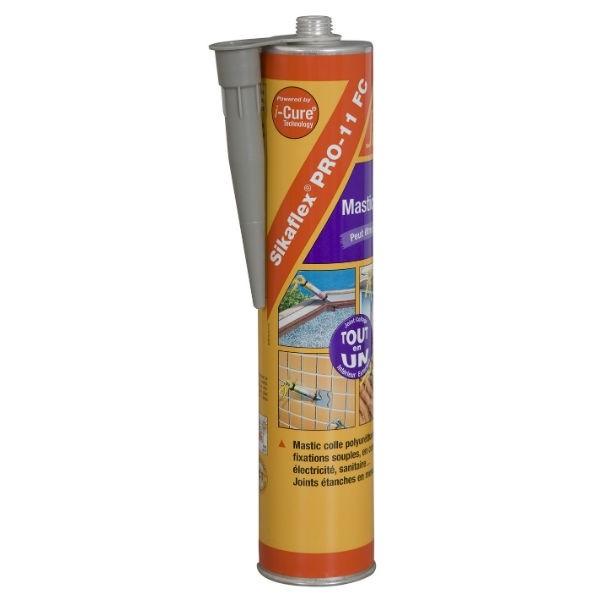 Sikaflex pro 11 FC, couleur gris béton, la cartouche de 300 ml