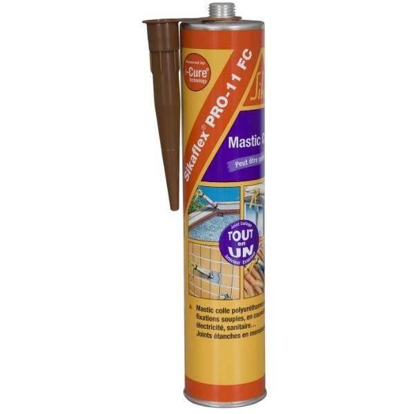 Sikaflex pro 11 FC, couleur marron, la cartouche de 300 ml