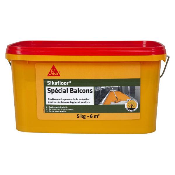 Revêtement imperméable et Souple Sikafloor Spécial balcon gris, seau de 6kg