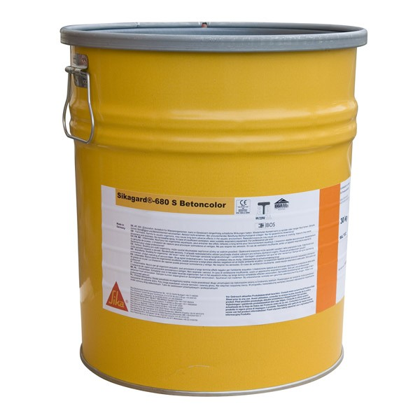 Revêtement de protection béton Sikagard 680 S BetonColor, seau de 30kg