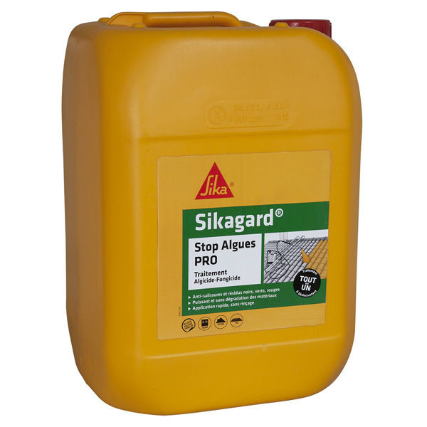 Sikagard Stop Algues Pro Anti Mousses Multi Surface, 20 litres
