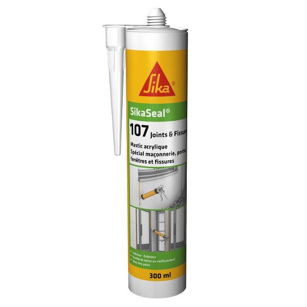 Mastic Acrylique SIKASEAL 107 Joint et Fissure Blanc, carton 12 x 300ml
