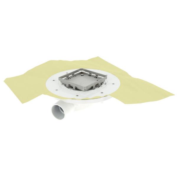 Siphon Extra Plat à Carreler ⌀40mm Inox 10x10cm Docia Nicoll SFH10NR