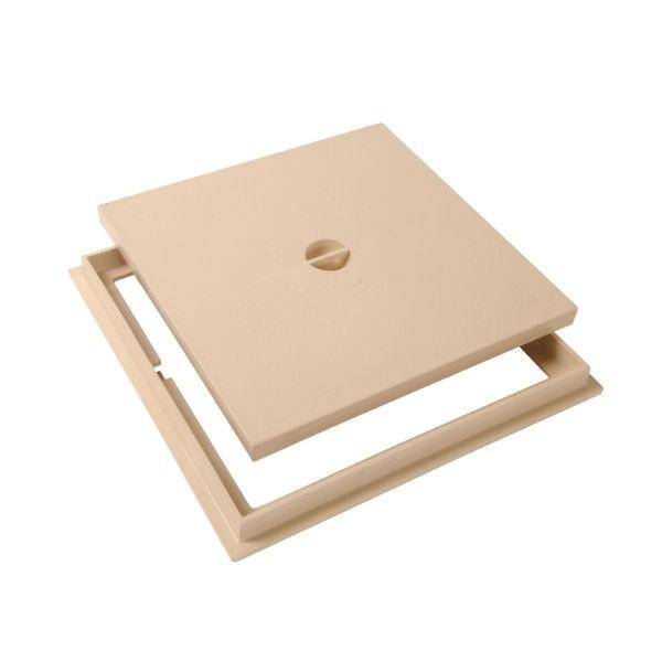 Tampon de sol PVC 30 x 30 cm Nicoll TRC30S sable avec cadre