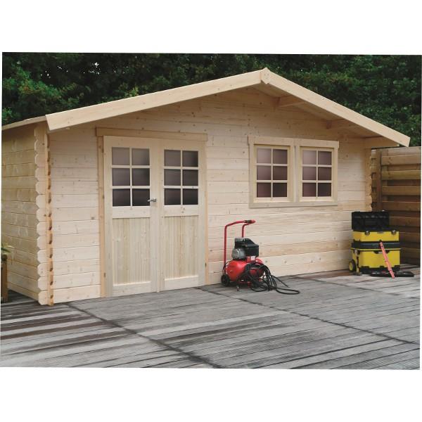 Abri de jardin bois autoclave SOLID modèle VERNIER 538x538 cm
