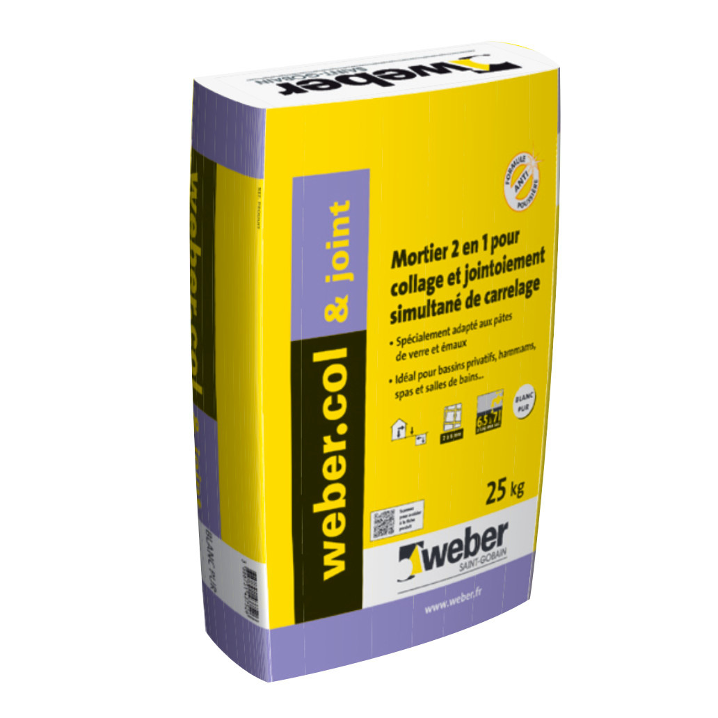 Colle & Joint Blanc Pur Weber.Col & Joint 25 kg