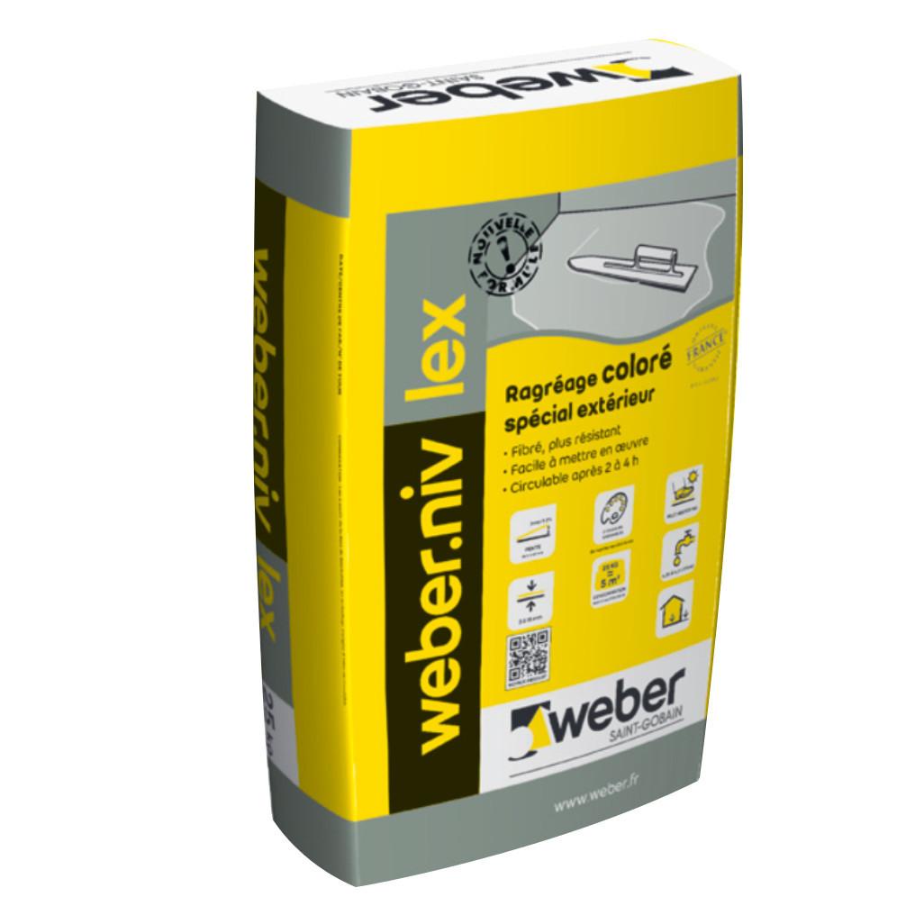 ragr age weber niv lex gris ciment 25kg. Black Bedroom Furniture Sets. Home Design Ideas