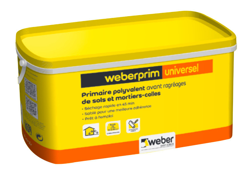 Primaire Ragréage Weber Prim Universel 10 kg