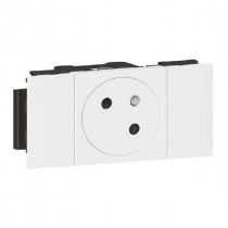 Prise de Courant 2P+T Legrand Surface Soluclip 2 Modules Blanc 077101L