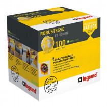 100 Boîtes Ecobatibox 1 poste Legrand Prof 50mm 080013