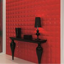Carrelage mural Dune Megalos red effet 3D, la pièce de 30x60cm