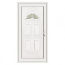 Porte d'entrée en PVC LEA lune gauche, 215 x 90 cm