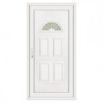 Porte d'entrée en PVC LEA lune droite, 215 x 90 cm