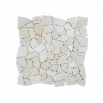 Mosaïque Ivoire Travertin Naturel 1037, Plaque 30,5 x 30,5 x 1 cm