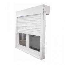 Fenêtre PVC 1 vantail volet intégré, 115 x 80 cm tirant droit