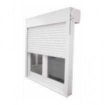Fenêtre PVC 2 vantaux avec volet intégré, 165 x 90 cm