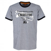Tee-shirt Bosseur Carreleur Gris-chiné