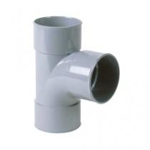 Embranchement PVC batiment 90° T femelle/femelle DN 80/80