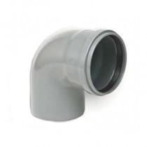 Coude PVC assainissement à joints 1/4 male/femelle DN 125, l'unité