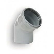 Coude PVC assainissement à joints 1/8 male/femelle DN 125, l'unité