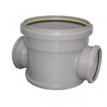 Regard PVC à passage direct diam 400mm entrée et sortie en diam 200mm