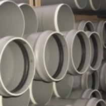 Tuyaux PVC assainissement CR8 à joints en 3 Ml DN 160, le tuyau