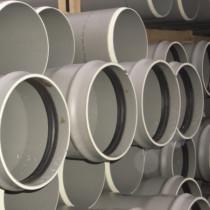 Tuyau PVC assainissement CR8 à coller Diam.100 mm L.4 m