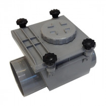 Clapet anti retour PVC MF diam 110 mm à joint, l'unité