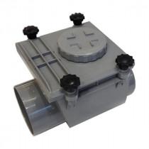 Clapet anti retour PVC MF diam 125 mm à joint, l'unité
