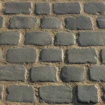 Pavés Courtstone Natural largeur 12,9 x longueur variable x 5,8 cm couleur Iron Grey, la palette de 5,465 M2