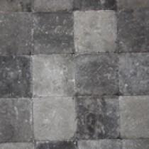 Pavés tambourisés 15 x 15 x 5 cm Cambelstone couleur Gris-anthracite, la palette de 12,6 M2