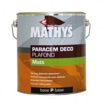 Peinture acrylique Paracem Deco Plafond Matt Mathys blanc, 4 litres