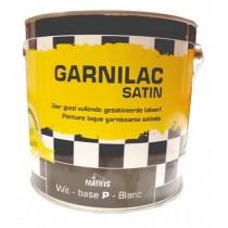 Peinture laque satinée Garnilac Mathys blanc, 1 litre